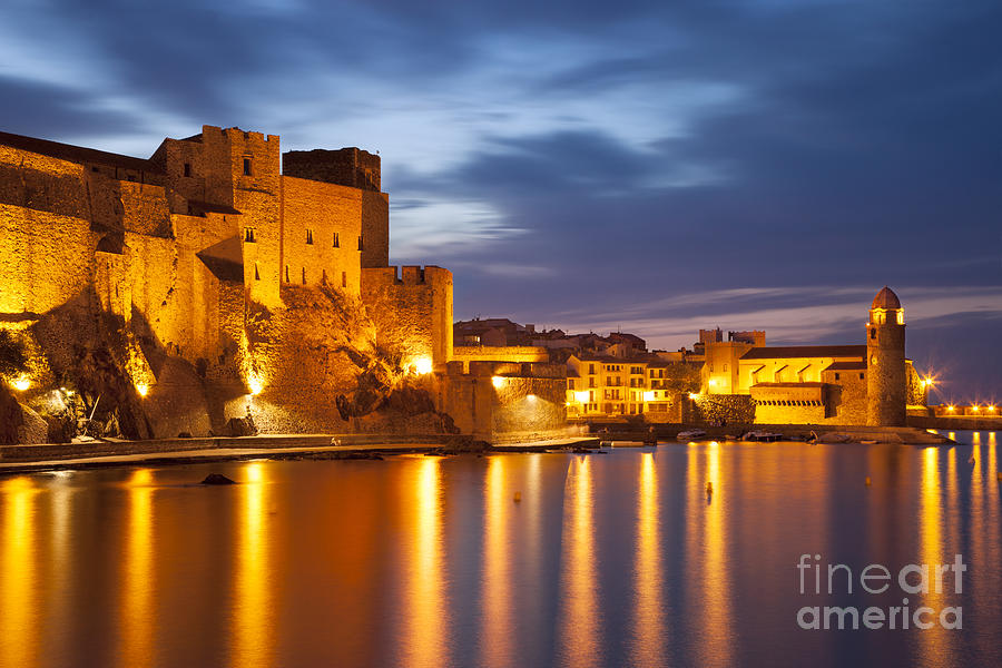 Twilight In Collioure Photograph  - Twilight In Collioure Fine Art Print
