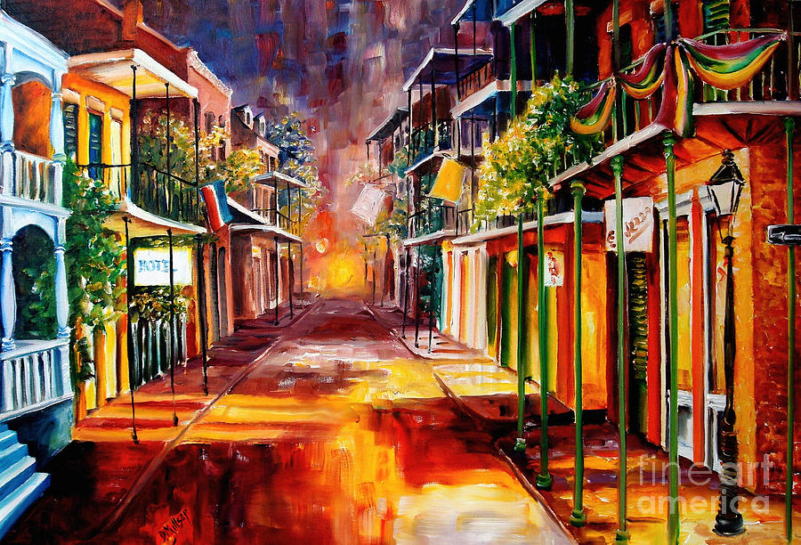 Twilight In New Orleans Painting  - Twilight In New Orleans Fine Art Print
