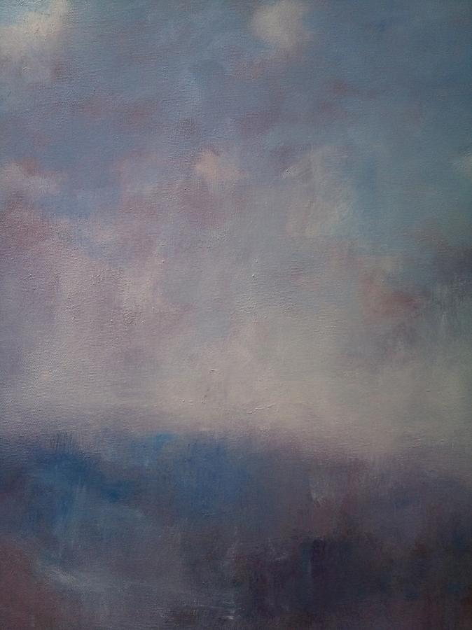 Sunset Painting - Twilight Mist Over The Arreton Valley by Alan Daysh
