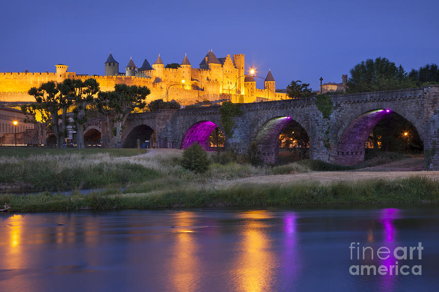 Twilight Over Carcassonne Photograph