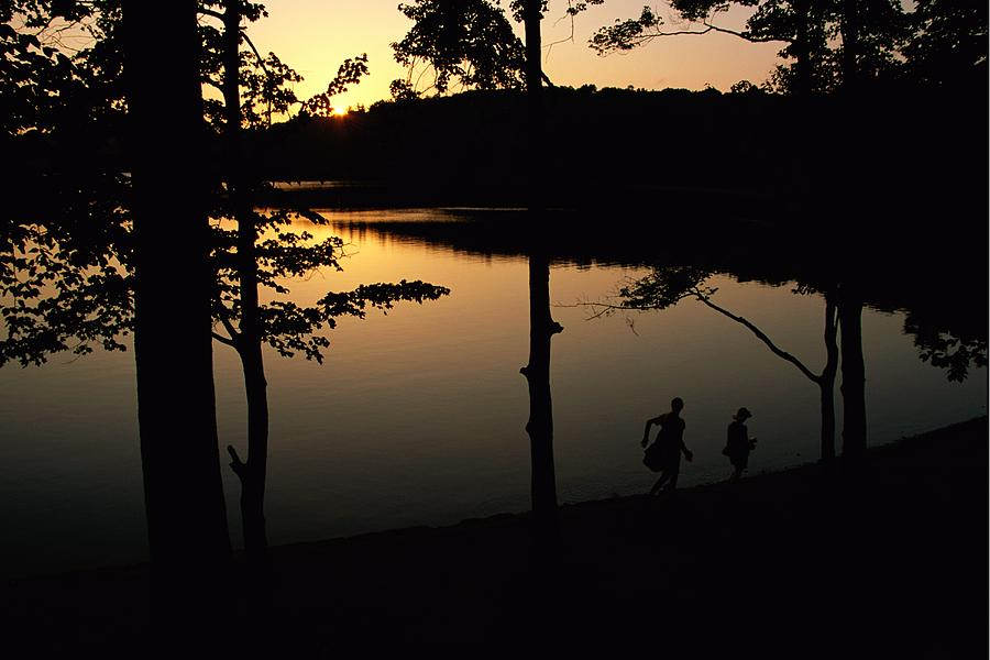 Twilight Over Walden Pond, Made Famous Photograph  - Twilight Over Walden Pond, Made Famous Fine Art Print