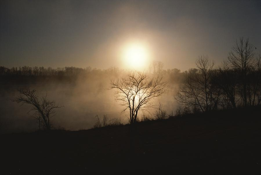 Twilight View Of Fog Over The Tennessee Photograph