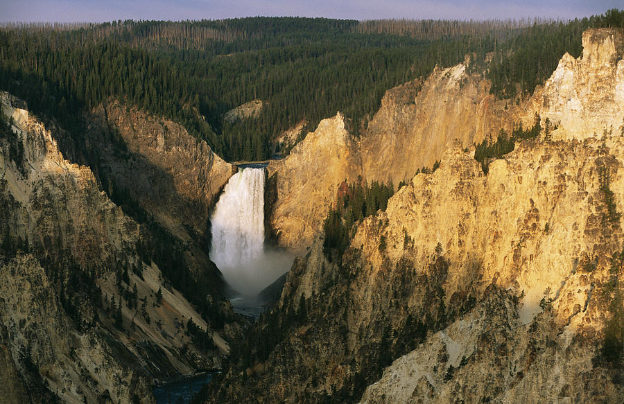 North America Photograph - Twilight View Of Lower Yellowstone by Michael S. Lewis