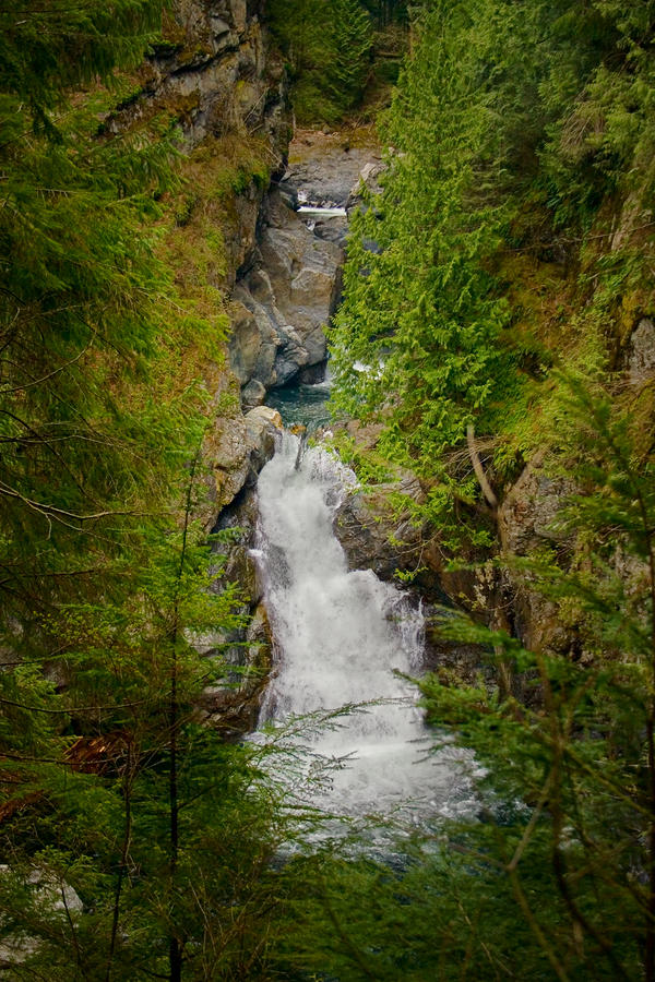 Twin Falls Snoqualmie River Washington Photograph