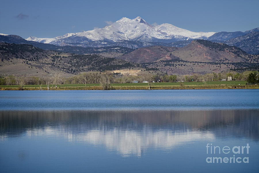 Twin Peaks Mccall Reservoir Reflection Photograph  - Twin Peaks Mccall Reservoir Reflection Fine Art Print
