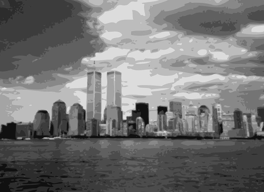 Twin Towers Bw10 Photograph