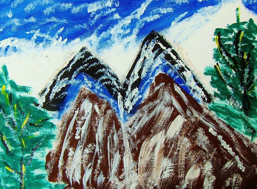 twins Peaks  Painting