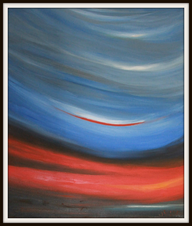 Twisting Sunset Painting