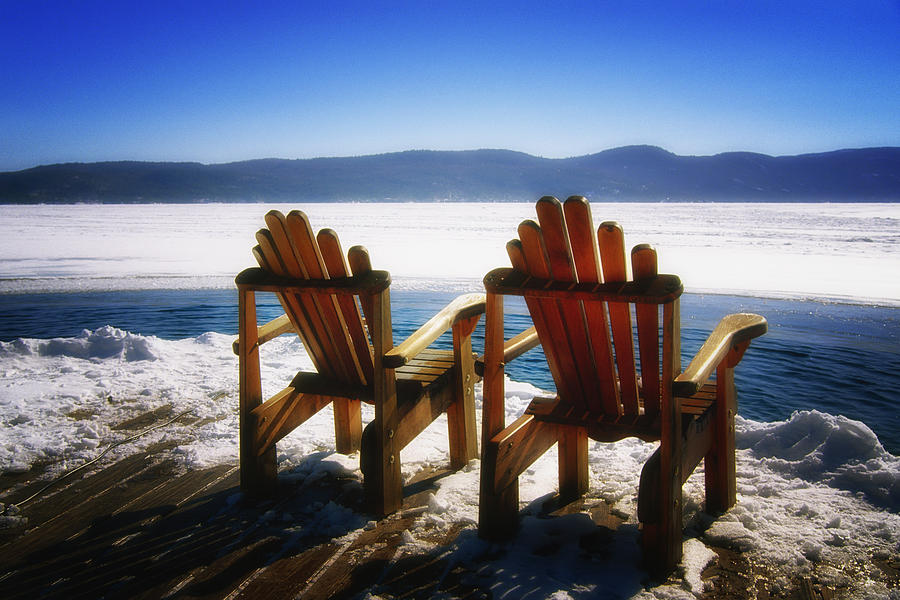 Two Adirondack Chairs  Photograph