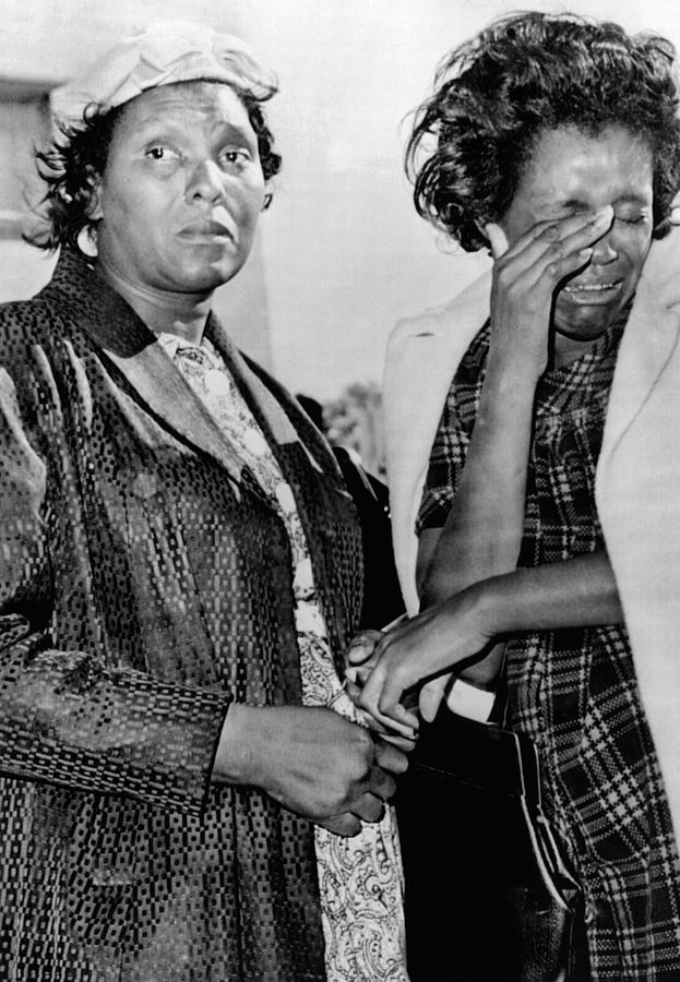 Two African American Women Stand Photograph