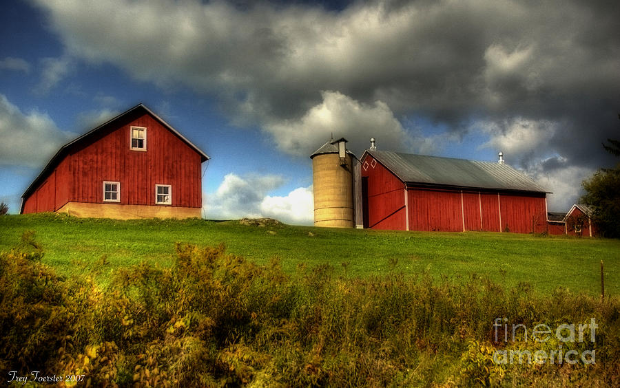Two Barns On Grenlie Road Photograph  - Two Barns On Grenlie Road Fine Art Print