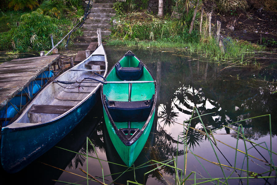 Two Canoes Photograph  - Two Canoes Fine Art Print