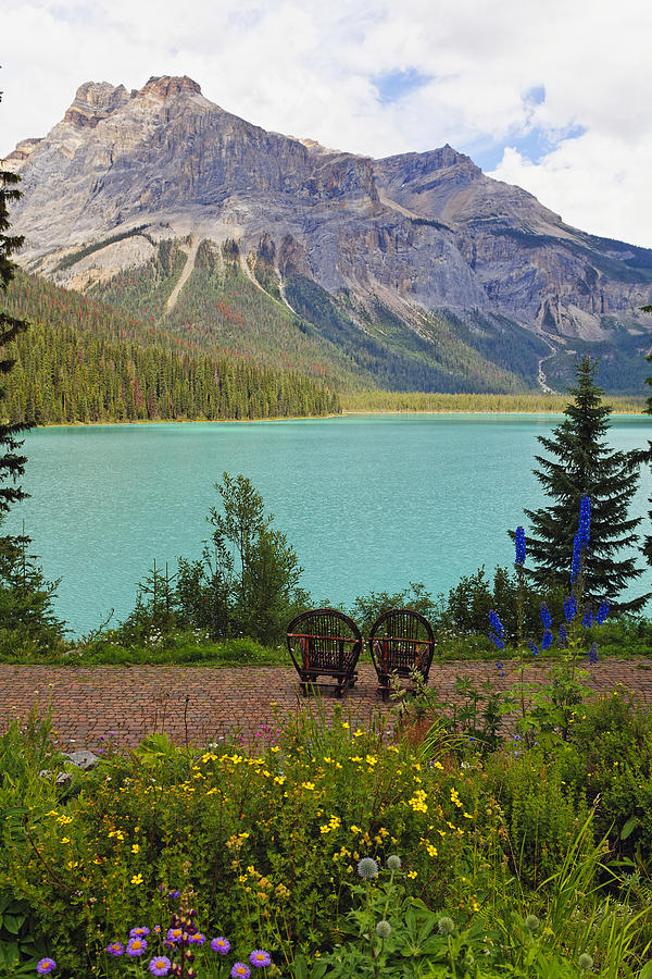 Two Chairs At Lakeside Photograph  - Two Chairs At Lakeside Fine Art Print