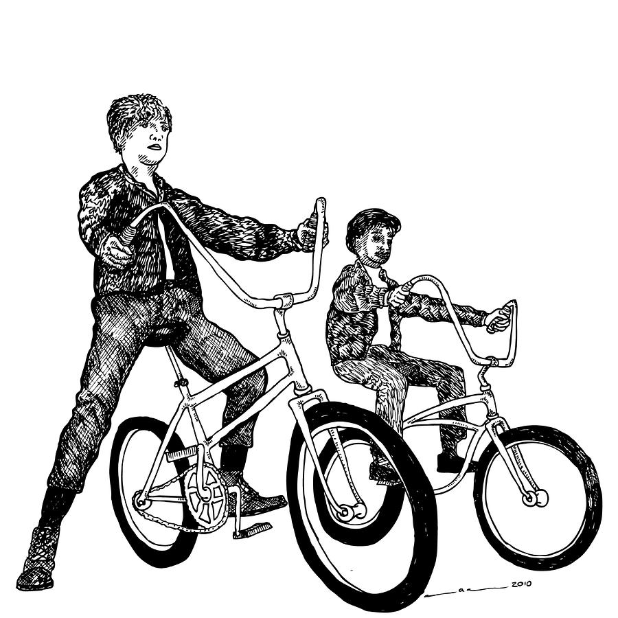 Two Cool Riders Drawing