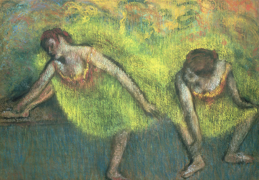 Two Dancers Relaxing Painting
