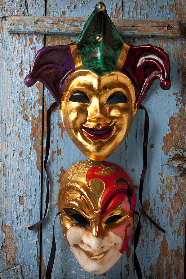 Two Decortive Masks Photograph  - Two Decortive Masks Fine Art Print