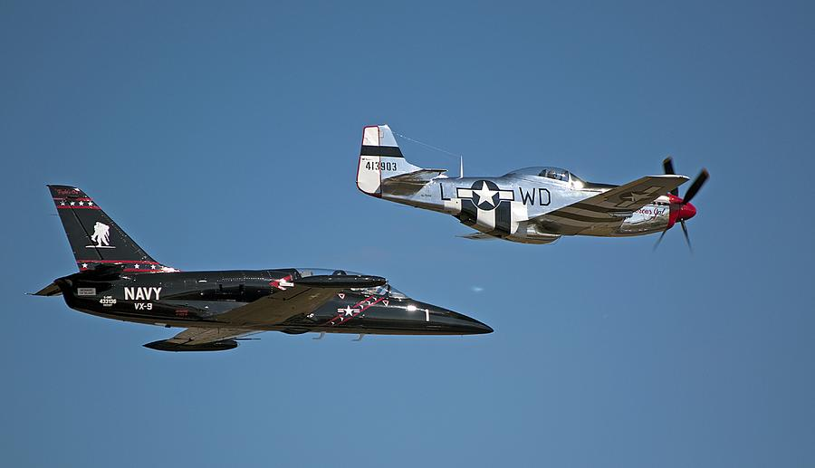 Two Generations Of Aircraft Photograph  - Two Generations Of Aircraft Fine Art Print