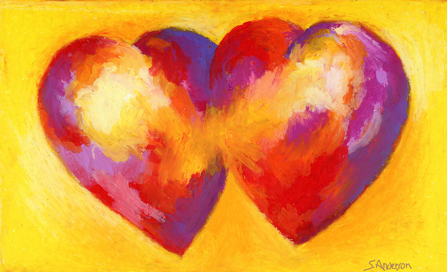 Two Hearts Beat As One Painting  - Two Hearts Beat As One Fine Art Print