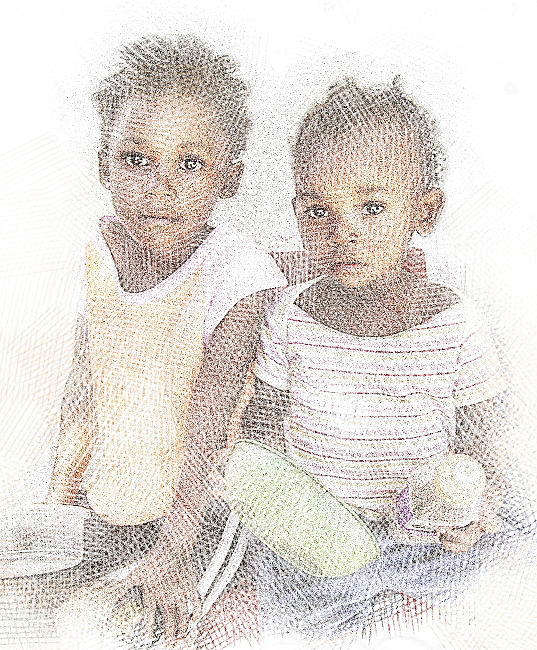 Two Hungry Girls Digital Art