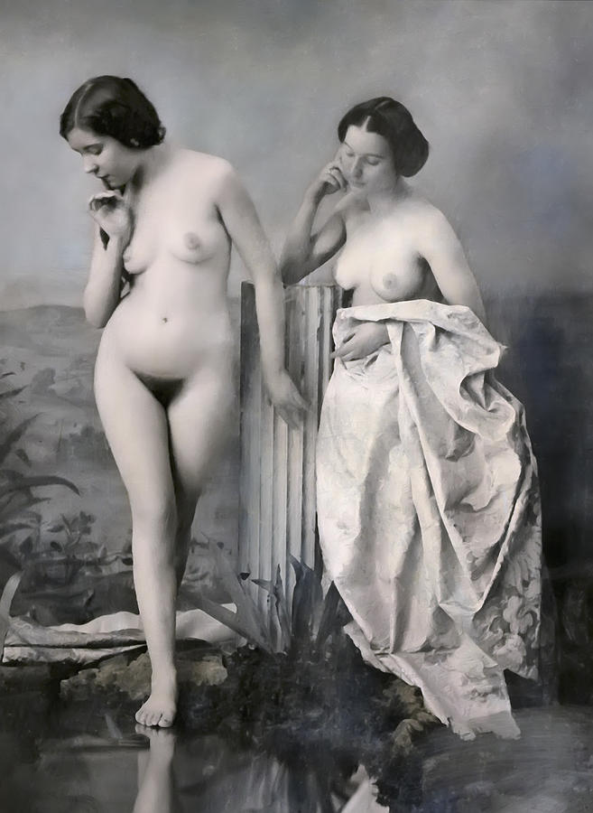 two nude victorian women at the baths c 1851 daniel hagerman Naked Female Wrestling