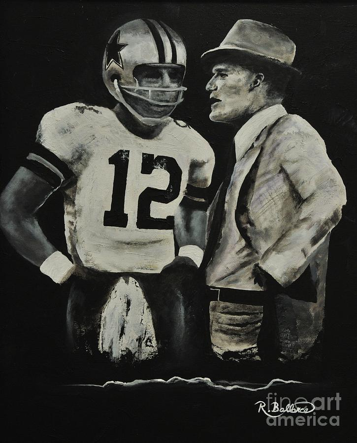 Two Of The Greastest Minds In Pro-football Painting  - Two Of The Greastest Minds In Pro-football Fine Art Print