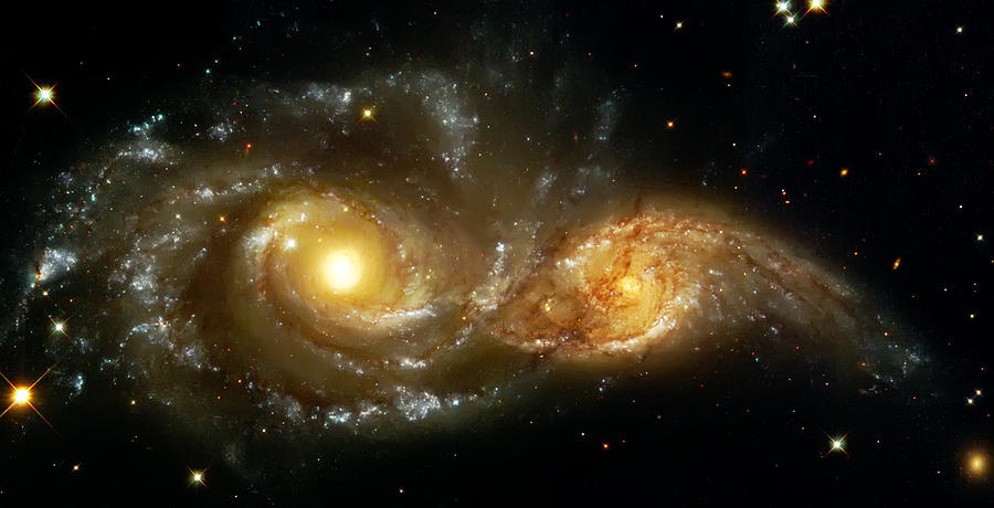 Two Spiral Galaxies Photograph