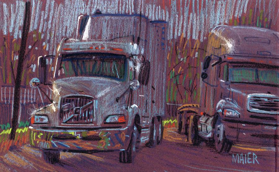 Two Trucks Drawing