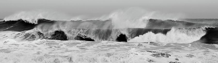 Two Waves Are Better Than One - Jersey Shore Photograph