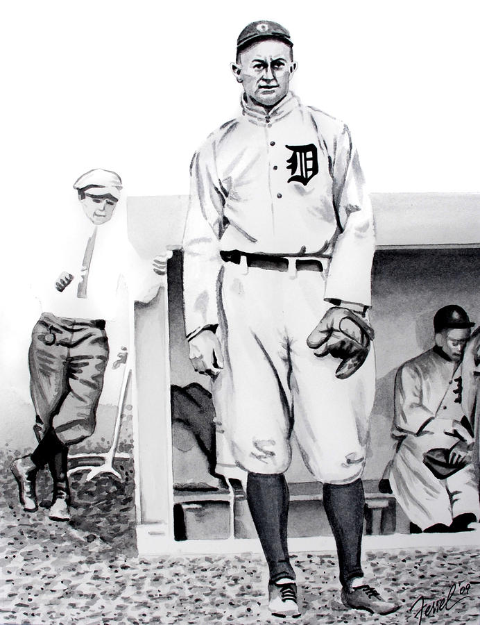 Ty Cobb Painting