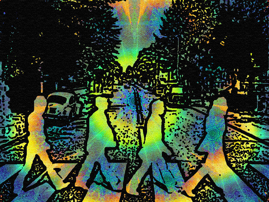 Tyedye Abbey Road Photograph  - Tyedye Abbey Road Fine Art Print