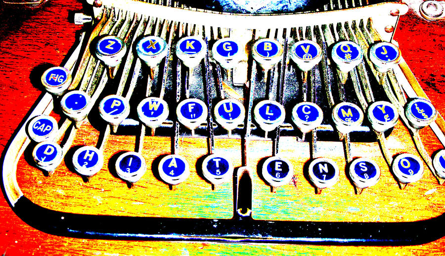 Typewriter Digital Art  - Typewriter Fine Art Print