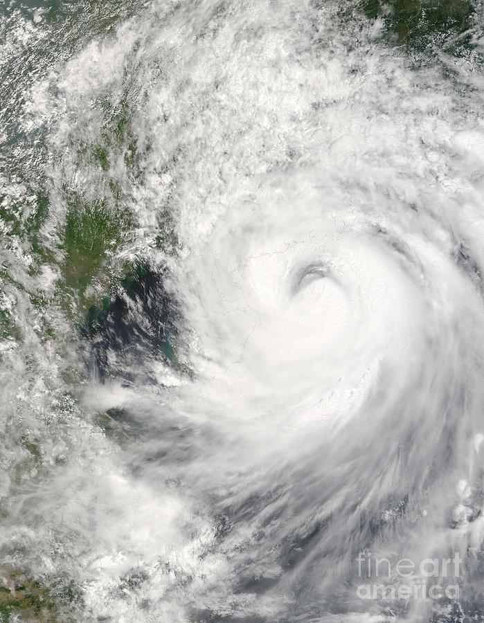Cloud Photograph - Typhoon Prapiroon by Stocktrek Images