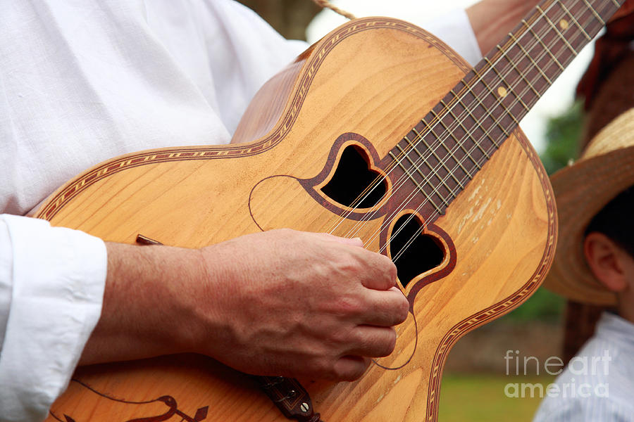 Typical Azores Guitar Photograph  - Typical Azores Guitar Fine Art Print