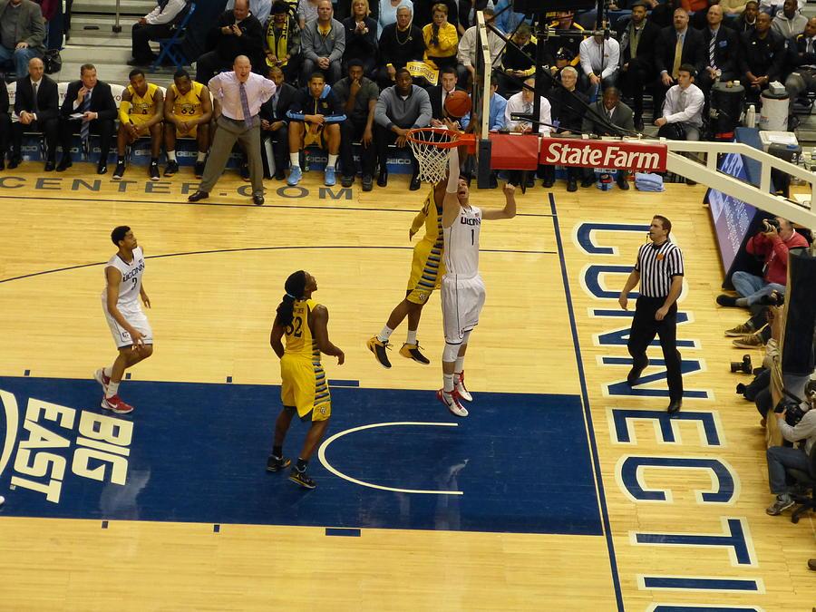 Uconn Basketball Photograph - Uconn At Xl Center by Patrick Lyons
