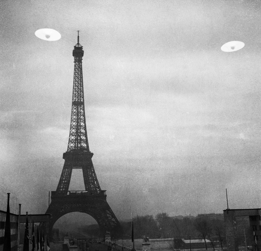 Ufo: Paris Photograph  - Ufo: Paris Fine Art Print