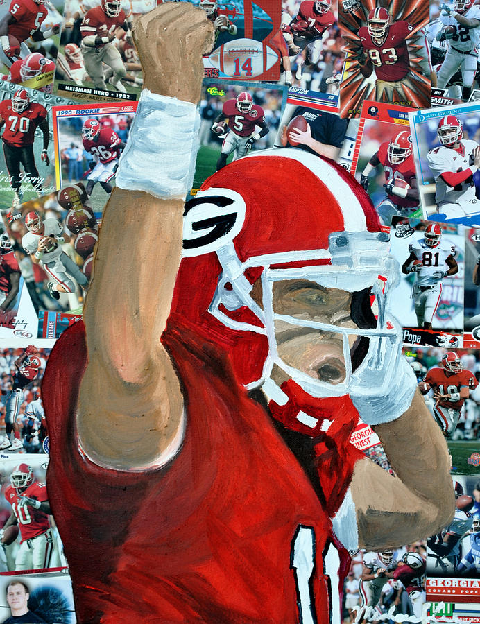 Uga Celebrates Painting  - Uga Celebrates Fine Art Print