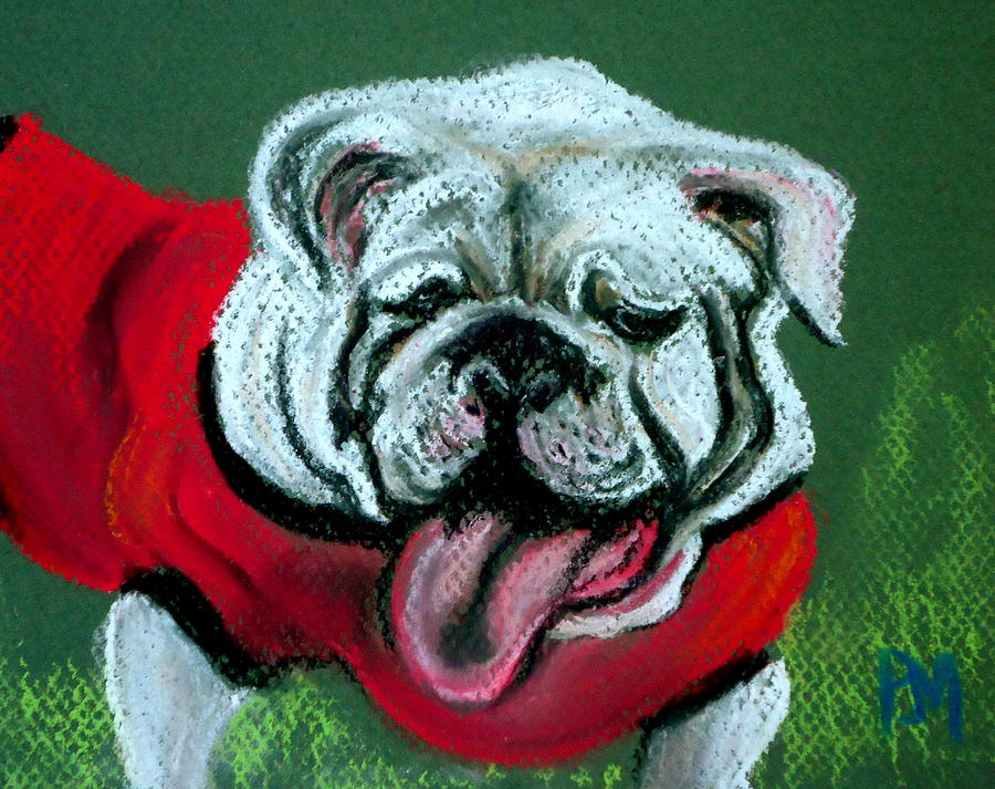 Bulldog Painting - UGA by Pete Maier