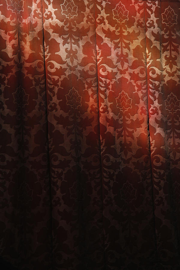 Uk, England, Oxford, Light On Red Fabric Photograph  - Uk, England, Oxford, Light On Red Fabric Fine Art Print