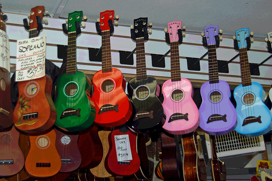 Ukeleles For Sale Photograph  - Ukeleles For Sale Fine Art Print