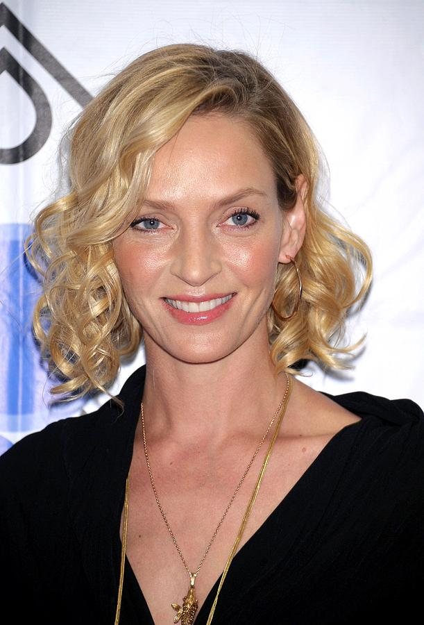 The 47-year old daughter of father Robert Thurman and mother Nena von Schlebrügge, 181 cm tall Uma Thurman in 2017 photo