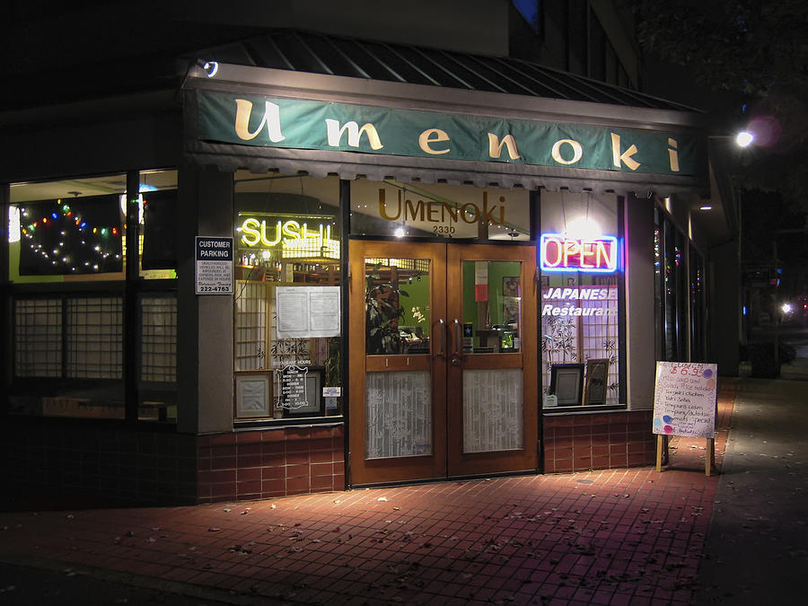 Umenoki Sushi Restaurant  Portland Oregon is a photograph by Daniel