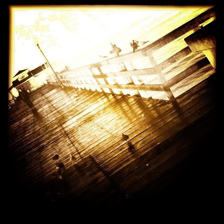 Umgx Vintage Design Seal Beach Pier Photo 2 Digital Art  - Umgx Vintage Design Seal Beach Pier Photo 2 Fine Art Print