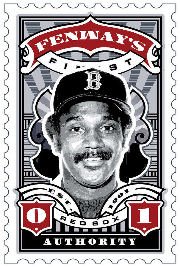 Umgx Vintage Jim Rice Illustrated Fenways Finest Stamp Art Poster  Digital Art  - Umgx Vintage Jim Rice Illustrated Fenways Finest Stamp Art Poster  Fine Art Print