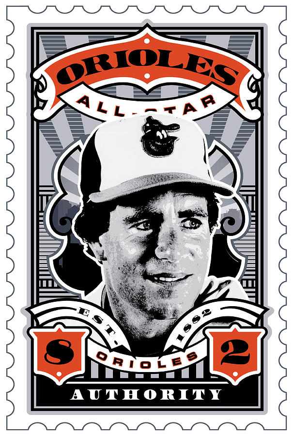 Umgx Vintage Studios Jim Palmer Baltimore Orioles All-stars Stamp Art Digital Art  - Umgx Vintage Studios Jim Palmer Baltimore Orioles All-stars Stamp Art Fine Art Print