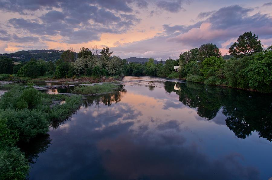 Umpqua River At Sunset Photograph