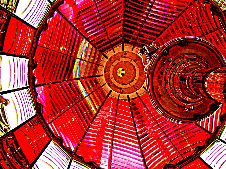 Umpqua River Lighthouse Lens In Hdr Photograph  - Umpqua River Lighthouse Lens In Hdr Fine Art Print