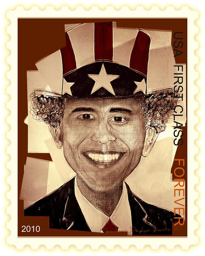 Uncle Bam  Postage Stamp Digital Art