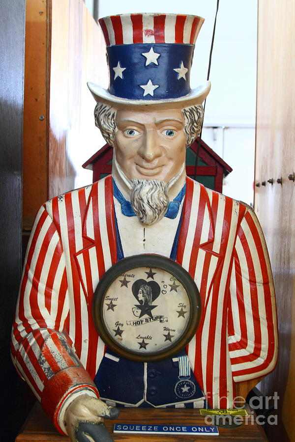 Uncle Sam At The Musee Mecanique At Fishermans Wharf . San Francisco Ca . 7d14405 Photograph  - Uncle Sam At The Musee Mecanique At Fishermans Wharf . San Francisco Ca . 7d14405 Fine Art Print