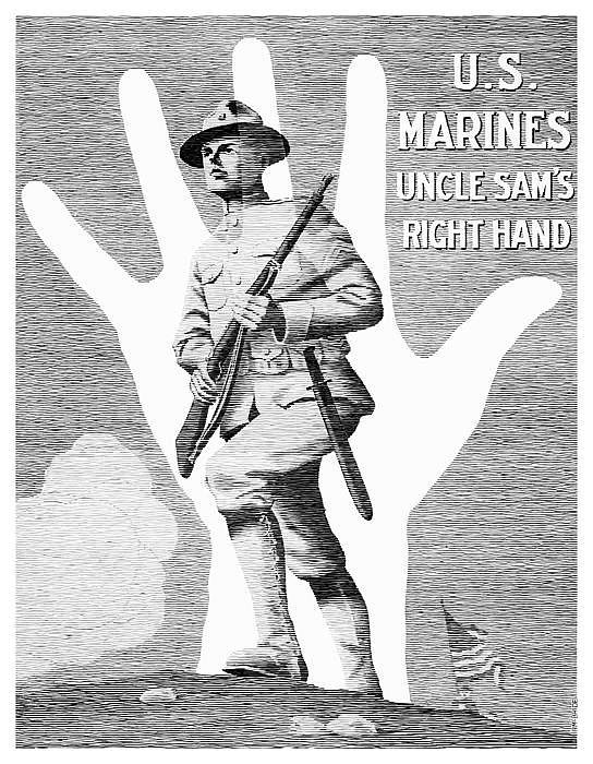 Uncle Sams Right Hand Digital Art  - Uncle Sams Right Hand Fine Art Print