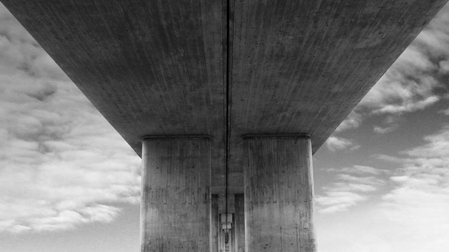 Under Concrete Bridge Photograph  - Under Concrete Bridge Fine Art Print